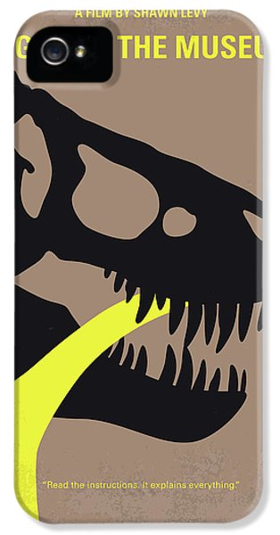 No672 My Night At The Museum Minimal Movie Poster IPhone 5 Case by Chungkong Art