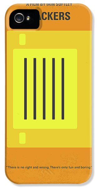 No684 My Hackers Minimal Movie Poster IPhone 5 Case by Chungkong Art