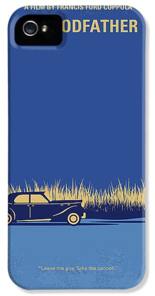 No686-1 My Godfather I Minimal Movie Poster IPhone 5 Case by Chungkong Art
