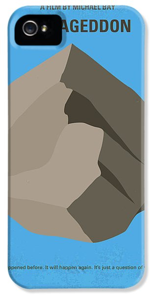 No695 My Armageddon Minimal Movie Poster IPhone 5 Case by Chungkong Art
