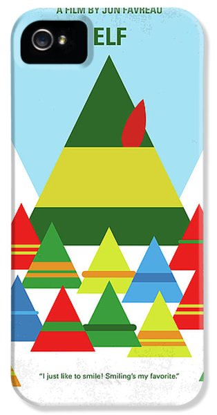 No699 My Elf Minimal Movie Poster IPhone 5 Case by Chungkong Art