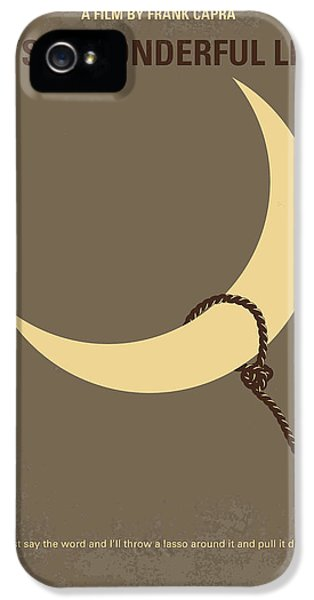 No700 My Its A Wonderful Life Minimal Movie Poster IPhone 5 Case by Chungkong Art