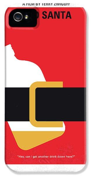 No702 My Bad Santa Minimal Movie Poster IPhone 5 Case