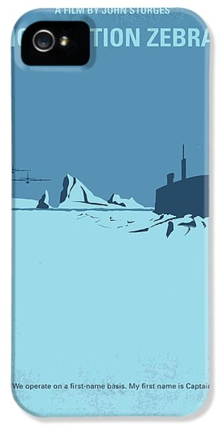 No711 My Ice Station Zebra Minimal Movie Poster IPhone 5 Case by Chungkong Art
