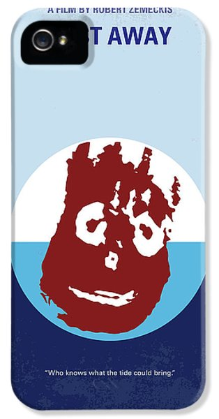 No718 My Cast Away Minimal Movie Poster IPhone 5 Case by Chungkong Art