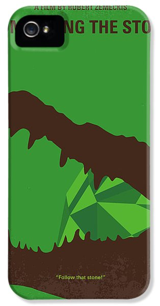 No732 My Romancing The Stone Minimal Movie Poster IPhone 5 Case by Chungkong Art