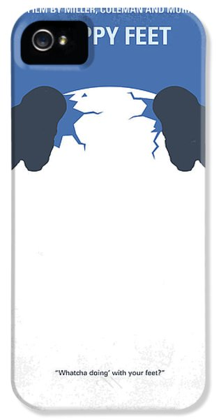 No744 My Happy Feet Minimal Movie Poster IPhone 5 Case by Chungkong Art