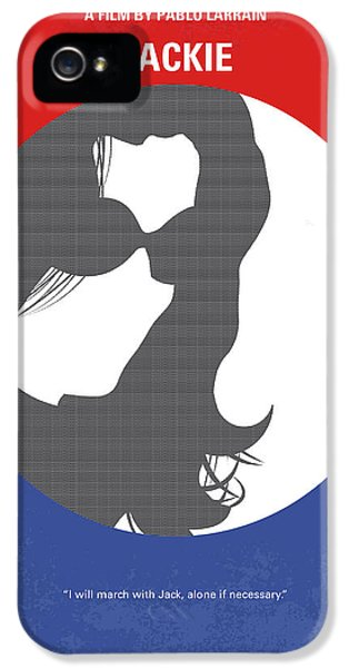 No755 My Jackie Minimal Movie Poster IPhone 5 Case by Chungkong Art