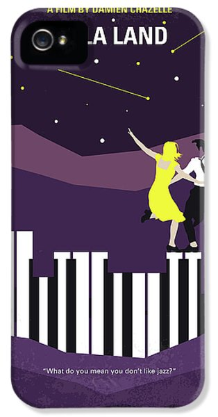 Jazz iPhone 5 Case - No756 My La La Land Minimal Movie Poster by Chungkong Art