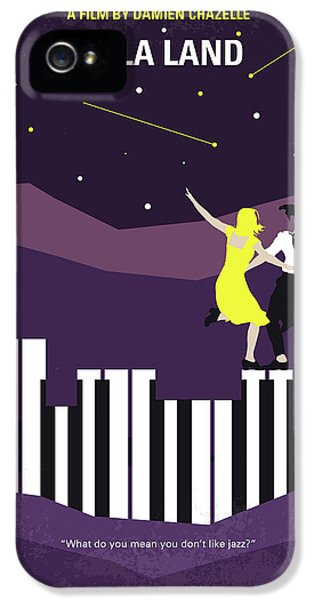No756 My La La Land Minimal Movie Poster IPhone 5 Case by Chungkong Art