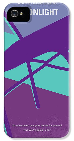 Miami iPhone 5 Case - No757 My Moonlight Minimal Movie Poster by Chungkong Art
