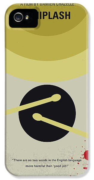 Drum iPhone 5 Case - No761 My Whiplash Minimal Movie Poster by Chungkong Art