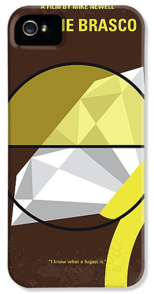 Johnny Depp iPhone 5 Case - No766 My Donnie Brasco Minimal Movie Poster by Chungkong Art