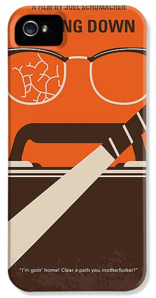 No768 My Falling Down Minimal Movie Poster IPhone 5 Case by Chungkong Art