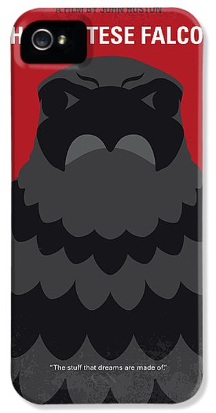 Falcon iPhone 5 Case - No780 My The Maltese Falcon Minimal Movie Poster by Chungkong Art