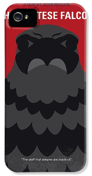 No780 My The Maltese Falcon Minimal Movie Poster IPhone 5 Case by Chungkong Art