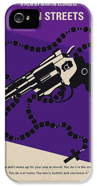 No823 My Mean Streets Minimal Movie Poster IPhone 5 Case