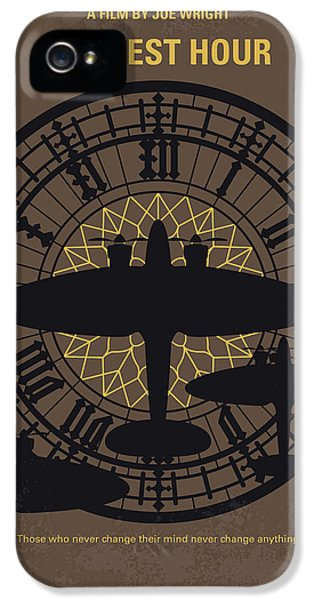 Westminster Abbey iPhone 5 Case - No901 My Darkest Hour Minimal Movie Poster by Chungkong Art