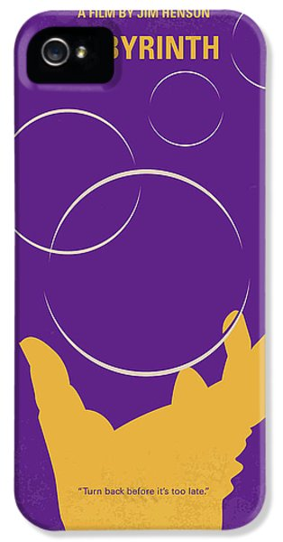 Knight iPhone 5 Case - No928 My Labyrinth Minimal Movie Poster by Chungkong Art