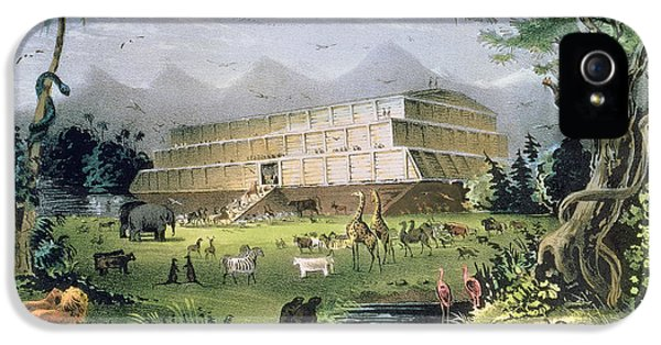 Noahs Ark IPhone 5 Case by Currier and Ives