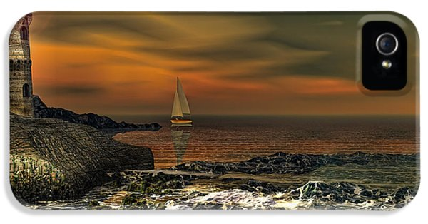 Lighthouse iPhone 5 Cases - Nocturnal Tranquility iPhone 5 Case by Lourry Legarde