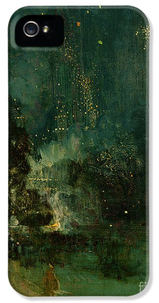 Fourth Of July iPhone 5 Cases - Nocturne in Black and Gold - the Falling Rocket iPhone 5 Case by James Abbott McNeill Whistler