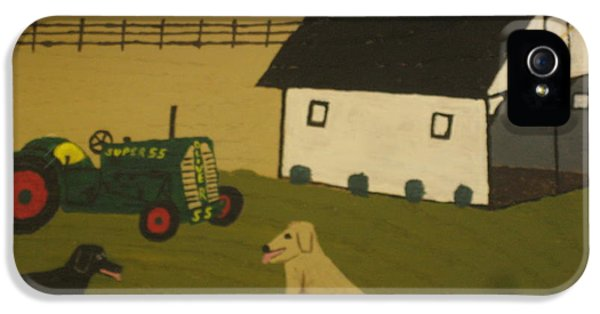 Oliver Tractor iPhone 5 Case - Nook And Brutus by Jeffrey Koss