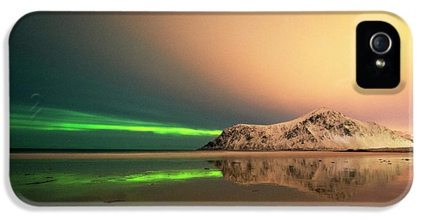 Northern Light In Lofoten Nordland 5 IPhone 5 Case by Dubi Roman