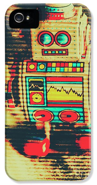 Nostalgic Tin Sign Robot IPhone 5 Case by Jorgo Photography - Wall Art Gallery