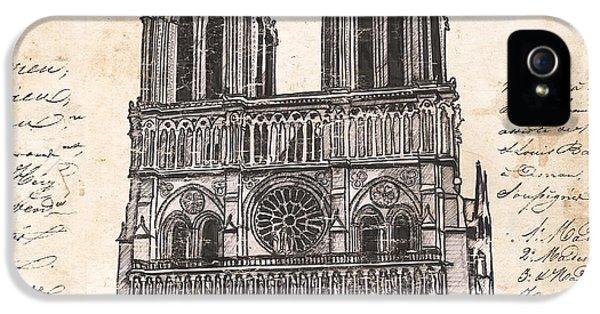 Notre Dame De Paris IPhone 5 Case by Debbie DeWitt