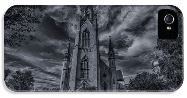 Notre Dame University Church IPhone 5 Case by David Haskett