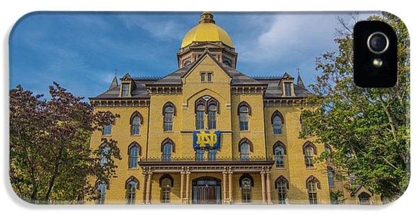 Notre Dame University Golden Dome IPhone 5 Case by David Haskett