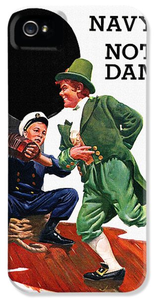 Notre Dame V Navy 1954 Vintage Program IPhone 5 Case