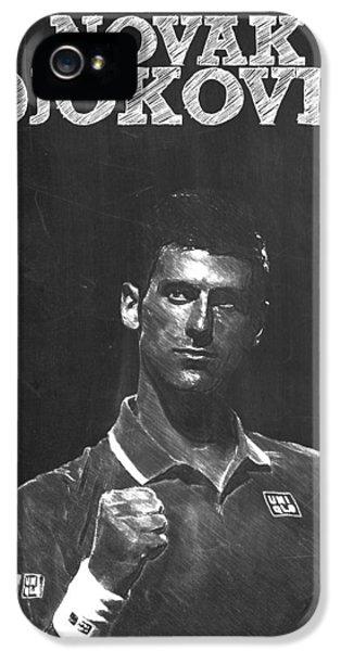 Novak Djokovic IPhone 5 Case by Semih Yurdabak