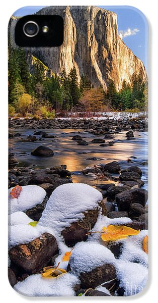 Mountain iPhone 5 Case - November Morning by Anthony Michael Bonafede