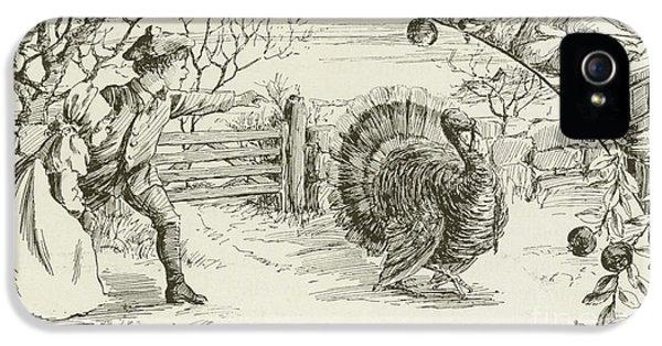 November   Vintage Thanksgiving Card IPhone 5 Case