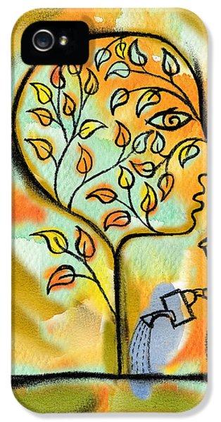 Garden iPhone 5 Case - Nurturing And Caring by Leon Zernitsky