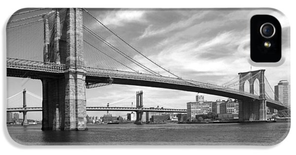 Nyc Brooklyn Bridge IPhone 5 Case by Mike McGlothlen