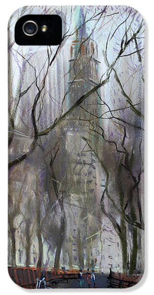 Nyc Central Park 1995 IPhone 5 Case by Ylli Haruni