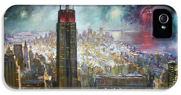 Fourth Of July iPhone 5 Cases - Nyc. Empire State Building iPhone 5 Case by Ylli Haruni
