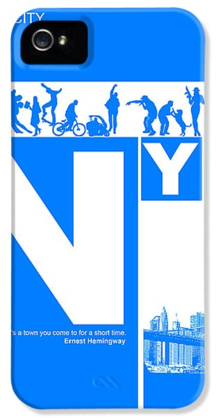 Broadway iPhone 5 Case - Nyc Find Yourself In The City by Naxart Studio