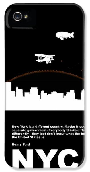 Nyc Night Poster IPhone 5 Case by Naxart Studio
