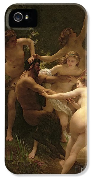 Nymphs And Satyr IPhone 5 Case by William Adolphe Bouguereau