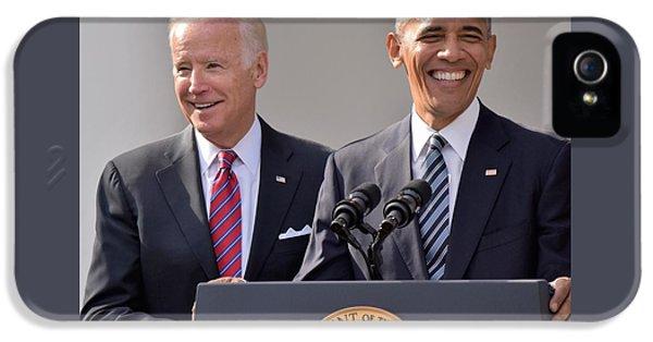 Joe Biden iPhone 5 Case - Obama And Biden by Anna Wilding