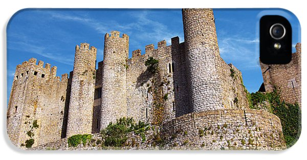 Stone iPhone 5 Cases - Obidos Castle iPhone 5 Case by Carlos Caetano