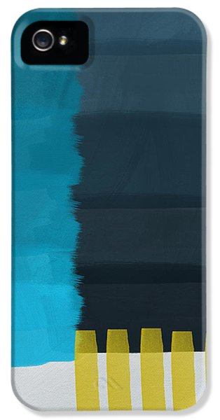 Ocean Front Walk- Art By Linda Woods IPhone 5 Case by Linda Woods