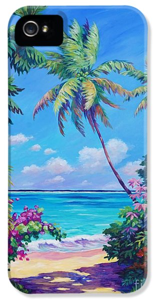 Landscape iPhone 5 Case - Ocean View With Breadfruit Tree by John Clark