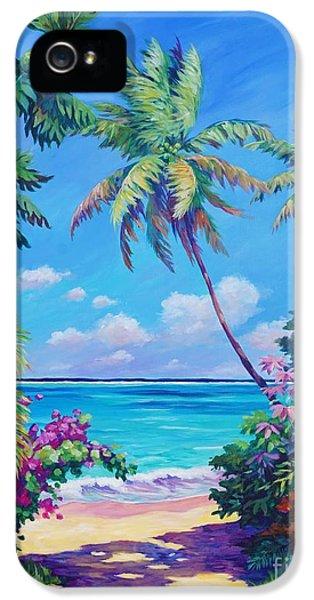 Beach iPhone 5 Case - Ocean View With Breadfruit Tree by John Clark