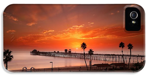 Oceanside Sunset 9 IPhone 5 Case by Larry Marshall