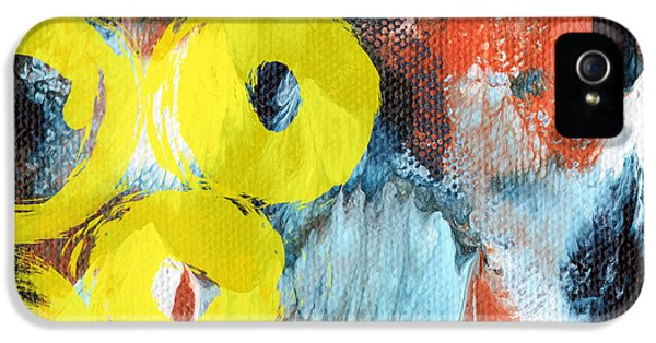 October- Abstract Art By Linda Woods IPhone 5 Case by Linda Woods